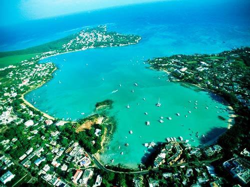 在加勒比海的净土上看海