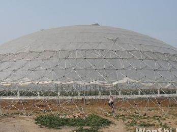 高科技示范观光园生态餐厅 单体两千平方米鸟巢温室